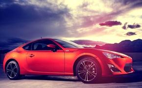 Picture car, red, sports car, Subaru, subaru brz