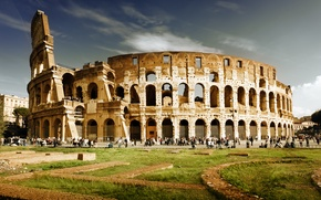 Wallpaper people, Rome, Colosseum, Italy, Italy, Colosseum, Rome, amphitheatre