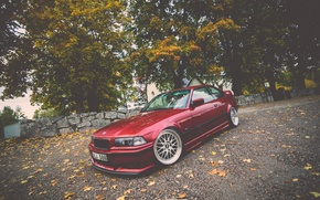 Picture BMW, Red, Coupe, E36