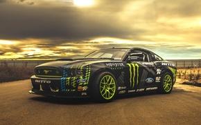 Picture Mustang, Ford, Car, RTR, Road, Drifting, Vaughn Gittin Jr.