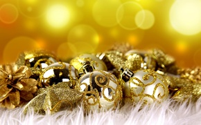 Picture decoration, holiday, balls, new year, Christmas, balls, golden balls