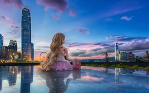 Picture view, doll, Hong Kong, Tamar Park, Admiralty