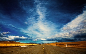 Picture road, the sky, dal