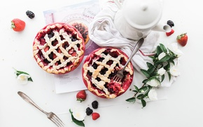 Picture strawberry, cakes, BlackBerry, sweet, pies