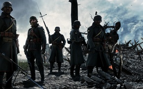 Wallpaper war, the game, soldiers, Electronic Arts, Battlefield 1