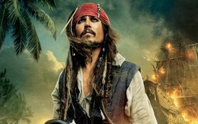 Picture johnny depp, captain jack sparrow, pirates of the caribbean on stranger tides