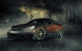 Picture Nissan, Zombie, GT-R, Front, R35, Dead, Killer, Walking