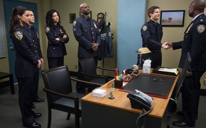 Picture Fox, USA, police, New York, detective, series, American, Terry Crews, uniform, tie, seifuku, TV series, …