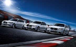 Picture track, BMW, race, white, car