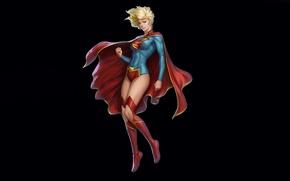 Picture look, costume, cloak, DC Comics, Supergirl, Kara Zor-El