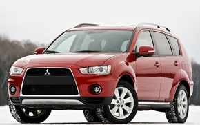 Picture Japan, Wallpaper, Mitsubishi, Jeep, Japan, Red, Car, Auto, Wallpapers, SUV, Mitsubishi, US-Spec, Outlander, Outlander