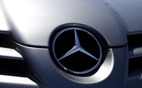 Picture characters, signs, Mercedes, symbols, macro photos, icon symbols, macro mercedes