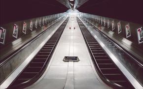 Picture metro, London, stairs, staircase, England, escalator, London Bridge Station, underground, United Kingdom, railway