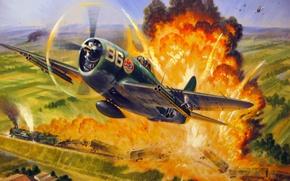 Picture war, ww2, fab, brazilian air force, p-47 thunderbolt