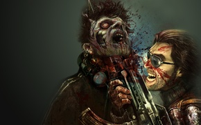 Picture look, game, weapons, machine, zombies, Creek, dead-island