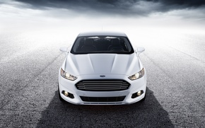 Picture white, Ford, before, white, Ford, front, Mondeo, Mondeo