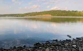 Wallpaper water, lake, shore, Stones