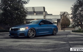 Picture BMW, Blue, Front, Vorsteiner, Pirelli, F32, 103, 2015, 435i, V-FF, Estoril