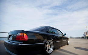 Picture car, the sky, clouds, tuning, bmw, sky, tuning, Boomer, seven, e38, 7 series, bumer