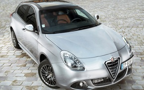 Picture lights, silver, Alfa Romeo, car, the front, Italian, Collection, Juliet