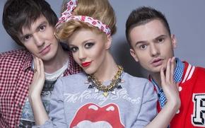 Picture decoration, group, makeup, singer, Yulianna Karaulova, 5sta Family