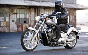 Picture motorcycle, biker, honda, chopper, Honda, chopper