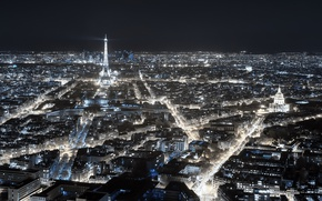Picture night, the city, Paris