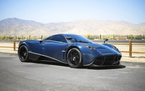 Picture Pagani, blue, carbon, To huayr