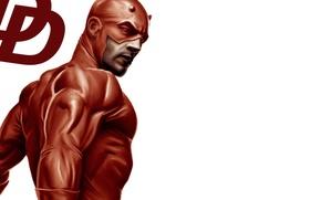 Picture look, mask, art, Marvel Comics, Daredevil, Matt Murdock, red suit