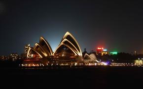 Wallpaper night, Australia, Opera