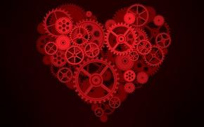 Wallpaper mechanism, gear, Heart, background