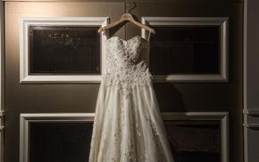 Picture dress, wedding, hanger