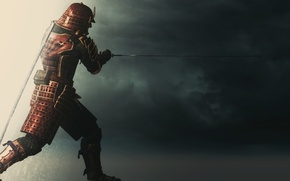 Picture Samurai, rendering, sword, background