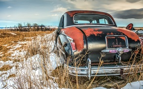 Picture car, snow, vehicle, rust