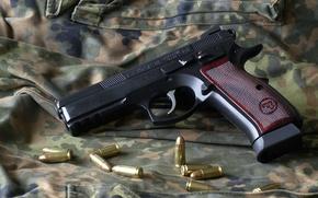 Picture weapons, cartridges, CZ75 Sp01 Shadow, gun