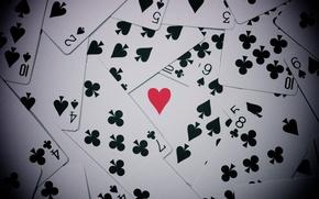 Wallpaper ACE, suit, card, mood, mood, heart
