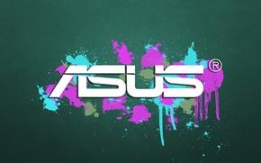 Picture squirt, paint, logo, logo, Asus