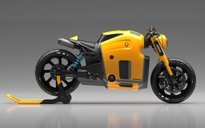 Picture Concept, Koenigsegg, Yellow, Side, Bike, Wheels, Brake