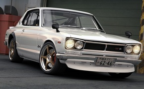 Picture Japan, art, Nissan, GT-R, car, Skyline, R30, dangeruss, Compact sports