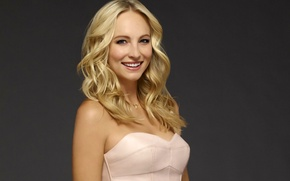 Picture girl, smile, background, actress, blonde, The Vampire Diaries, The vampire diaries, season 6, Caroline Forbes, …