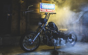 Picture smoke, yamaha, moto, bike, v star