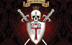 Picture sake, sword, logo, seal, mark, cross, lion, crown, ken, blade, shield, warrior, templar, Constantine, latin, …