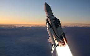 Picture Buran, ship, rocket, space, Energia-Buran