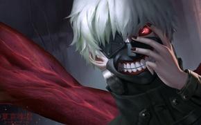 Picture anime, mask, art, guy, tokyo ghoul, Ken kanek, cangkong