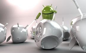 Picture Apple, Android, Android, art, lightsabers, Hi-Tech
