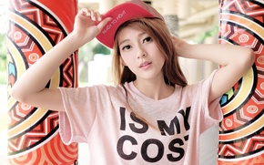 Picture look, girl, face, style, cap