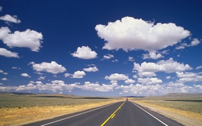Wallpaper the sky, Road, clouds, 158