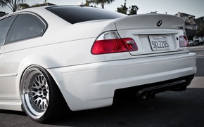 Picture white, BMW, headlight, BMW, white, bumper, E46, the rear part