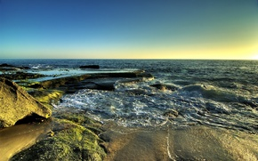 Wallpaper sea, wave, sand