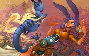Picture girl, game, animal, game wallpapers, WildStar, Carbine Studios